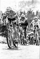 Don Myrah leads off the start at some race on the front range of colarado, some time around 1989.