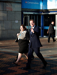 Rt Hon David Cameron MP, Prime Minister, outside conference centre during the Conservative Party Conference, ICC, Birmingham, Great Britain, October 9, 2012. Photo by Elliott Franks / i-Images.