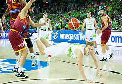 Jaka Blazic of Slovenia during basketball match between Slovenia and Macedonia at Day 6 in Group C of FIBA Europe Eurobasket 2015, on September 10, 2015, in Arena Zagreb, Croatia. Photo by Vid Ponikvar / Sportida