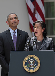 59781737  <br /> US Ambassador to the UN Susan Rice (R) speaks during a White House ceremony in Washington D.C., the United States, June 5, 2013. U.S. President Barack Obama on Wednesday tapped UN ambassador Susan Rice to be the next national security advisor, taking the post vacated by Tom Donilon, who has resigned, DC, USA , June 5, 2013 .UK ONLY