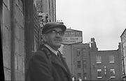 Dr Herrema Kidnap Trial Begins.    K9..1976..23.02.1976..02.23.1976..23rd February 1976..After a period of incarceration, the trial of Eddie Gallagher finally got under way at the Special Criminal Court, Green Street, Dublin. Gallagher was charged with the kidnap of the Dutch Industrialist, Dr Tiede Herrema. The kidnap ended with the release of Dr Herrema after a siege at Monasterevin, Co Kildare...A passer by awaits the arrival of Eddie Gallagher at the Special Criminal court.
