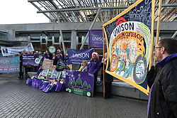 UNISON delivers 5000 'Fair Pay Now' cards to MSP's at the Scottish Parliament, demanding the Scottish Government 'pays up on NHS pay'.<br /> <br /> &copy; Dave Johnston/ EEm