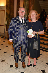 FERGUS & MARGOT HENDERSON at the annual Royal Academy of Art Summer Party held at Burlington House, Piccadilly, London on 4th June 2014.