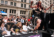 Contestant Debra Diamant competes during the Season 2 IFC 'Hottest Rocker Mom Contest' finale presentation on the Madison Square Park Traffic Island in New York City, USA on June 3, 2009.