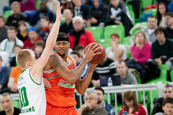 Chuck Davis #8 of Banvit B.K. during basketball match between KK Union Olimpija Ljubljana and Banvit B.K. (TUR) in 4th Round of EuroCup LAST 32 2013/14 on January 22, 2014 in Arena Stozice, Ljubljana, Slovenia. Photo by Urban Urbanc / Sportida