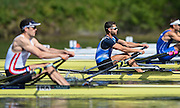 Lucerne, SWITZERLAND<br /> GRE M1X. Panaagiotis MAGDANIS. <br /> 2016 European Olympic Qualifying Regatta, Lake Rotsee.<br /> <br /> Sunday  22/05/2016<br /> <br /> [Mandatory Credit; Peter SPURRIER/Intersport-images]