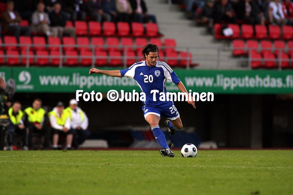 20.08.2008, Ratina, Tampere, Finland..Yst?vyysottelu Suomi - Israel / Friendly International match Finland v Israel.Tamir Cohen - Israel.©Juha Tamminen.....ARK:k