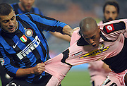 Walter Samuel of Inter MIlan pulls the shirt of Hernandez. 29th October 2009. <br /> <br />  ** NO AGENTS **