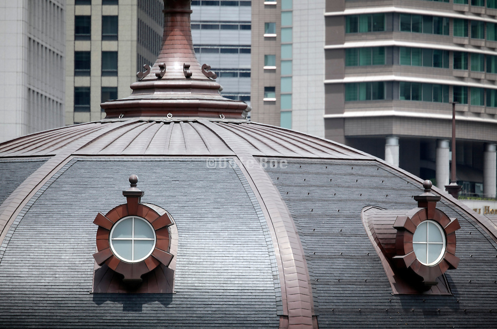 dome on top of renovated Tokyo Station Japan