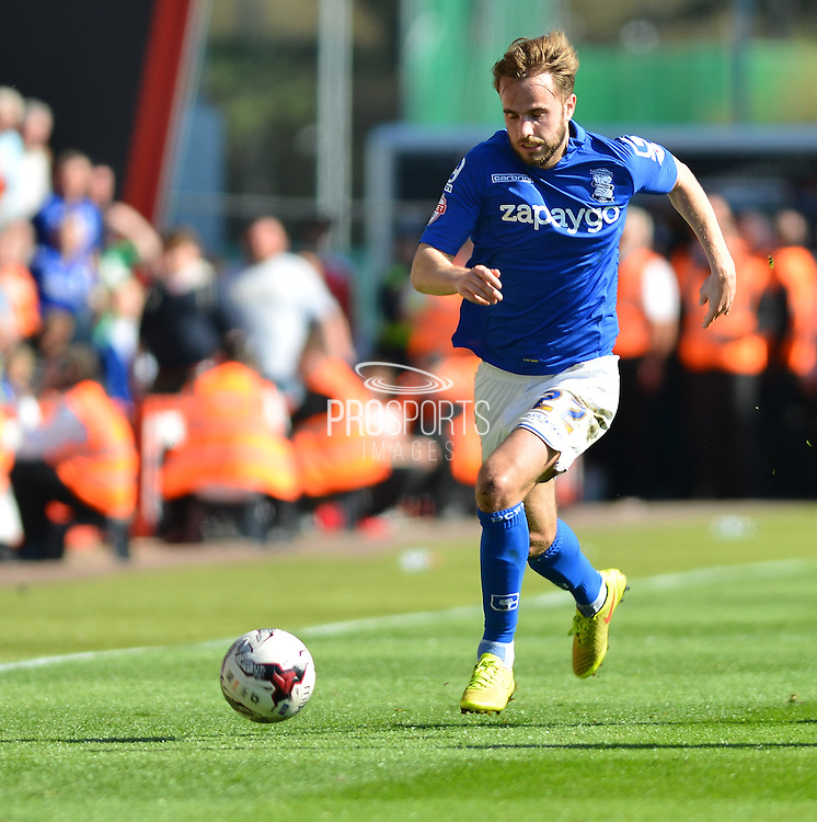 Birmingham City's Andrew Shinnie during the Sky Bet Championship match between Bournemouth and Birmingham City at the Goldsands Stadium, Bournemouth, England on 6 April 2015. Photo by Mark Davies.