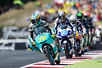 Joan Mir of Spain and Leopard Racing Team and Jorge Martin of Spain and Del Conca Gresini Moto3 Team during the race of  Moto3 of Catalunya at Circuit de Catalunya on June 11, 2017 in Montmelo, Spain.(ALTERPHOTOS/Rodrigo Jimenez)