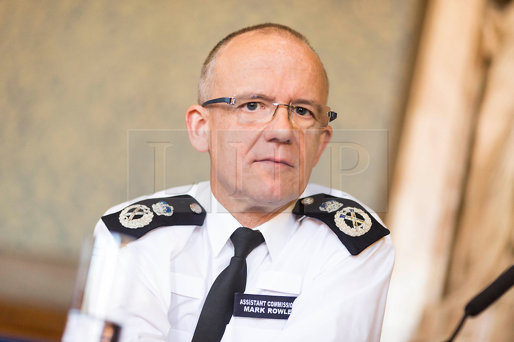 © Licensed to London News Pictures. 06/03/2017. MANCHESTER , UK.  <br /> Mark Rowley , Assistant Commissioner for Specialist Operations in the Metropolitan Police Service , pictured today (Monday 6th March 2017) at Manchester Town Hall at the launch of a new national counter terrorism public awareness campign.<br /> Mark Rowley ,the UK's most senior counter-terrorism officer , revealed today during a BBC Radio 4 Today Programme interview that terrorist plots on the scale of those carried out in Paris and Brussels have been foiled in Britain in the last four years.<br /> <br /> <br /> Photo credit: CHRIS BULL /LNP