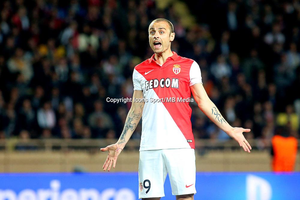 Deception Dimitar BERBATOV - 22.04.2015 - Monaco / Juventus Turin - 1/4Finale retour Champions League<br /> Photo : Serge Haouzi / Icon Sport