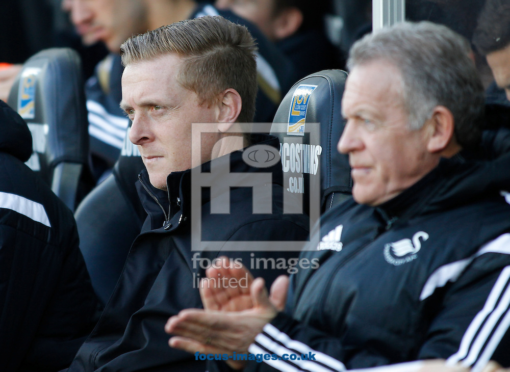 Garry Monk of Swansea City during the Barclays Premier League match at the Liberty Stadium, Swansea<br /> Picture by Mike Griffiths/Focus Images Ltd +44 7766 223933<br /> 07/02/2015