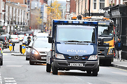 © Licensed to London News Pictures. 06/12/2017. London, UK. An armored Police vehicle carrying terror suspects Naa'imur Zakariyah Rahman, 20, and Mohammed Aqib Imran, 21, arrives at Westminster Magistrates Court in London where they are accused of plotting an attack at Downing Street to kill British prime minister Theresa May. Photo credit: Ben Cawthra/LNP