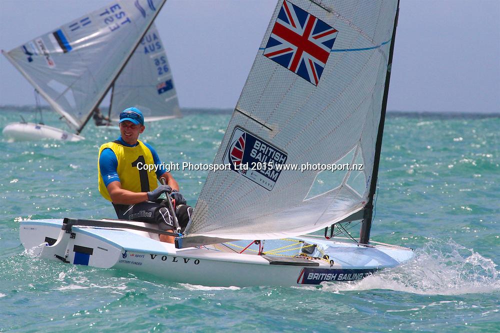 Race 6 Finn Gold Cup Takapuna - Giles Scott (GBR) overall leader