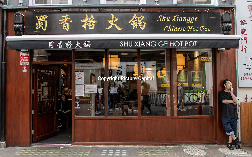 Shu Xiang Ge - Chinese Hot Pot in London Chinatown Sweet Tooth Cafe and Restaurant at Newport Court and Garret Street on 15 June 2019, UK.