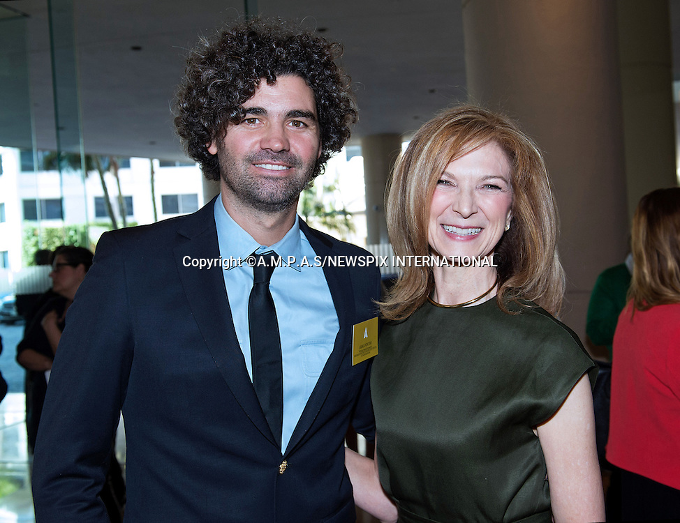 02.02.2015; Beverly Hills, California: 87TH OSCAR NOMINEES LUNCHEON - ARMANDO BO AND DAWN HUDSON<br /> Oscar Nominees attended the annual Nominees Luncheon that honours this year's contenders for the Oscars at the Beverly Hilton, Beverly Hills, Los Angeles<br /> Awards for outstanding film achievements of 2014 will be presented on Oscar Sunday, February 22, 2015, at the Dolby Theatre&reg; at Hollywood &amp; Highland Center&reg;, Los Angeles.<br /> Mandatory Photo Credit: &copy;Harbaugh/Newspix International<br /> <br />               **ALL FEES PAYABLE TO: &quot;NEWSPIX INTERNATIONAL&quot;**<br /> <br /> PHOTO CREDIT MANDATORY!!: NEWSPIX INTERNATIONAL(Failure to credit will incur a surcharge of 100% of reproduction fees)<br /> <br /> IMMEDIATE CONFIRMATION OF USAGE REQUIRED:<br /> Newspix International, 31 Chinnery Hill, Bishop's Stortford, ENGLAND CM23 3PS<br /> Tel:+441279 324672  ; Fax: +441279656877<br /> Mobile:  0777568 1153<br /> e-mail: info@newspixinternational.co.uk
