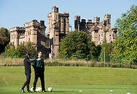 30/09/15<br /> CELTIC TRAINING<br /> LENNOXTOWN<br /> Celtic manager Ronny Deila (right) and assistant John Collins train their ahead of facing Fenerbache in the UEFA Europa League.