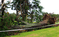 Auckland-Tornado cause damage in Massey