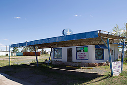deserted store in Vaughn, New Mexico