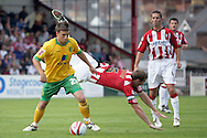 London - Saturday August 15th, 2009: Cody McDonald (L) of Norwich City in action against Matthew Taylor of Exeter City during the Coca Cola League One match at St James Park, Exeter. (Pic by Mark Chapman/Focus Images)