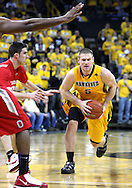 January 27, 2010: Iowa guard Matt Gatens (5) drives to the basket  during the second half of their game at Carver-Hawkeye Arena in Iowa City, Iowa on January 27, 2010. Ohio State defeated Iowa 65-57.