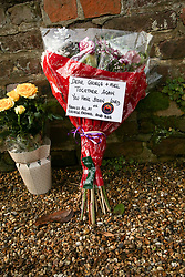 © Licensed to London News Pictures. 29/12/2019. London, UK. Tributes outside GEORGE MICHAEL'S former house in north London, after the death of his younger sister, MELANIE PANAYIOTOU. MELANIE PANAYIOTOU'S body was found on Christmas Day exactly three years after GEORGE MICHAEL'S death. Photo credit: Dinendra Haria/LNP