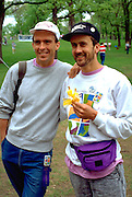 Marchers age 30 at the end of the Aids Walk.  Minneapolis  Minnesota USA