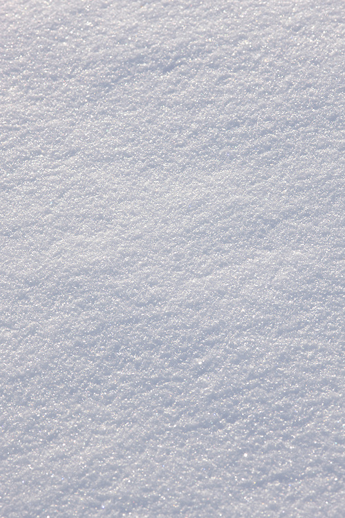 Close-up of side-lit fresh snow