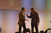 Ray Davies and Jonathan Ross.  The Q Awards, the  magazine's annual music awards,  Grosvenor House. October 10 2005. ONE TIME USE ONLY - DO NOT ARCHIVE © Copyright Photograph by Dafydd Jones 66 Stockwell Park Rd. London SW9 0DA Tel 020 7733 0108 www.dafjones.com