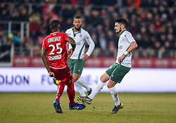 February 22, 2019 - Dijon, France - CABELLA Remy ( Saint Etienne ) - Senou Coulibaly  (Credit Image: © Panoramic via ZUMA Press)