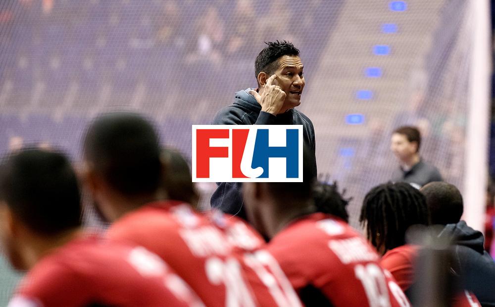 BERLIN - Indoor Hockey World Cup<br /> Men: Germany -  Trinidad &amp; Tobago<br /> foto: GOVIA Raphael.<br /> WORLDSPORTPICS COPYRIGHT FRANK UIJLENBROEK