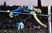 Bogdan Bondarenko (UKR) places third in the high jump at 7-7 (2.31m) during the Weltklasse Zurich in an IAAF Diamond League meeting at Letzigrund Stadium in Zurich, Switzerland on Thursday, August 24, 2017.   (Jiro Mochizuki/Image of Sport)