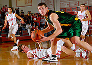 Waubonsie Valley forward Kyle Obendorf (34) keeps his eyes on the hoop during the fourth quarter of the game at Naperville Central High School in Naperville, Ill., on Saturday Dec. 1, 2007. Waubonsie Valley beat Naperville Central 59 to 47.