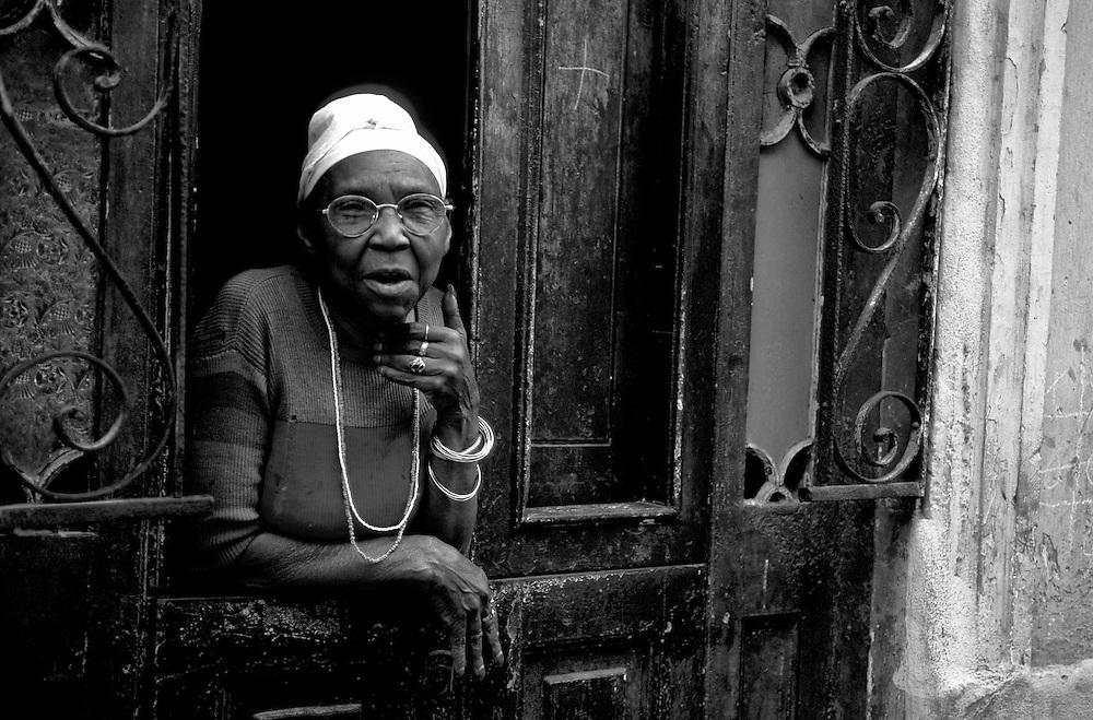 Old Woman, Habana Vieja, Old Town, La Habana, Havana, Cuba, Caribbean