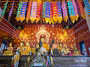 06 APRIL 2015 - CHIANG MAI, CHIANG MAI, THAILAND: Interior of Wat Duang Dee in Chiang Mai.     PHOTO BY JACK KURTZ