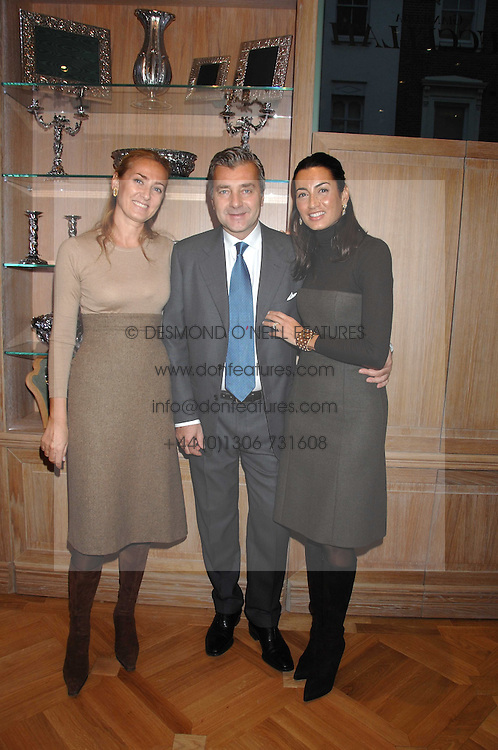 Left to right, MARIA-CHRISTINA BUCCELLATI and ANDREA &amp; MARIA BUCCELLATI at a tea party to celebrate the launch of Buccellati's new London store held at 33 Albemarle Street, London on 13th February 2007.<br />