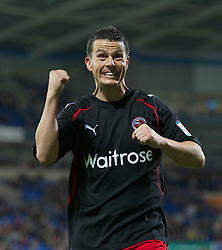 CARDIFF, WALES - Tuesday, May 17, 2011: Reading's Ian Harte during the Football League Championship Play-Off Semi-Final 2nd Leg match against Cardiff City at the Cardiff City Stadium. (Photo by David Rawcliffe/Propaganda)