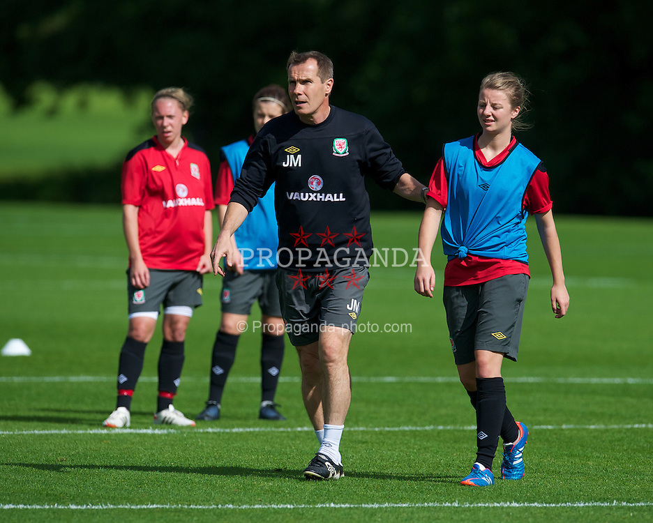 CARDIFF, WALES - Wednesday, September 12, 2012: Wales' manager Jarmo Matikainen during a training session at the Vale of Glamorgan ahead of the UEFA Women's Euro 2013 Qualifying Group 4 match against Scotland. (Pic by David Rawcliffe/Propaganda)