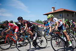 Kasia Niewiadoma (POL) and Rasa Leleivyte (LTU) at Giro Rosa 2018 - Stage 10, a 120.3 km road race starting and finishing in Cividale del Friuli, Italy on July 15, 2018. Photo by Sean Robinson/velofocus.com