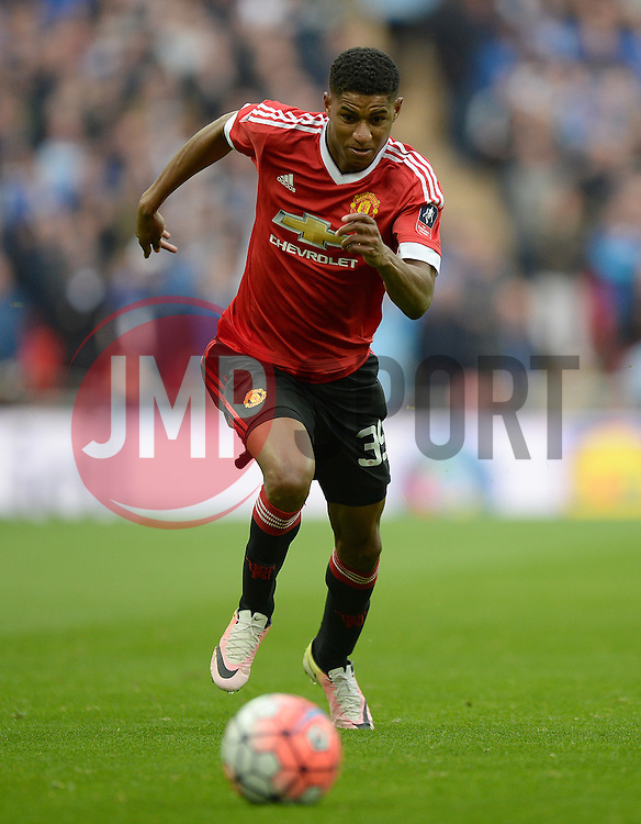 Marcus Rashford of Manchester United - Mandatory by-line: Alex James/JMP - 23/04/2016 - FOOTBALL - Wembley Stadium - London, England - Everton v Manchester United - The Emirates FA Cup Semi-Final