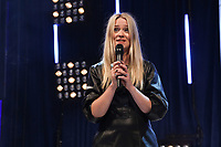 Host Edith Bowman on stage during O2 Silver Clef Awards 2019, Grosvenor House, London, UK, Friday 05 July 2019<br /> Photo JM Enternational