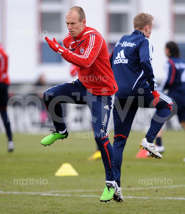 Fussball 1. Bundesliga :  Saison   2009/2010   03.02.2010 Training beim FC Bayern Muenchen Arjen Robben (FCB)