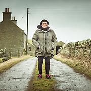 Morag MacInnes, Orcadian writer, poet and lecturer and the daughter of painter and radical Ian MacInnes.<br /> ©Damian Shields/The Economist/1843 Magazine