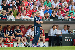 August 2, 2017 - Munich, Germany - Munich manager Carlo Ancelotti follows the Audi Cup SSC Naples vs Bayern Munich match at the Allianz Arena in Munich, Germany, 2 August, 2017. (Credit Image: © Paolo Manzo/NurPhoto via ZUMA Press)