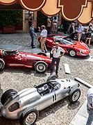 Como, Italy, Concorso d'Eleganza Villa D'Este, from the low side, Porsche 718/2, Maserati 250F, Alfa Romeo 33/2 Stradale