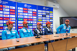 Slovenian Biathlon team during Slovenian biathlon team presenetation before season 2017/2018, Ljubljana, Slovenia. Photo by Ziga Zupan / Sportida