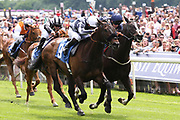 GILGAMESH (9) ridden by jockey Edward Greatrex and trained by George Scott winning The Constant Security Handicap Stakes over 7f (£25,000) at York Racecourse, York, United Kingdom on 26 May 2018. Picture by Mick Atkins.
