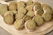 Adzuki Bean Ice Cream between Kakai Pumpkin Seed Sable Cookies